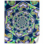 Power Spiral Polygon Blue Green White Canvas 16  x 20