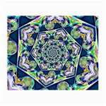 Power Spiral Polygon Blue Green White Small Glasses Cloth (2-Side)