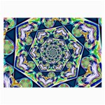 Power Spiral Polygon Blue Green White Large Glasses Cloth (2-Side)