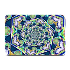 Power Spiral Polygon Blue Green White Plate Mats by EDDArt