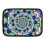 Power Spiral Polygon Blue Green White Netbook Case (Medium)