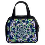 Power Spiral Polygon Blue Green White Classic Handbags (2 Sides)