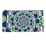 Power Spiral Polygon Blue Green White Pencil Cases