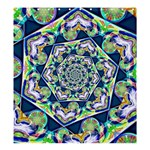 Power Spiral Polygon Blue Green White Shower Curtain 66  x 72  (Large)