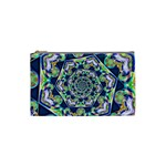 Power Spiral Polygon Blue Green White Cosmetic Bag (Small)