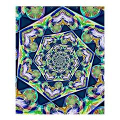 Power Spiral Polygon Blue Green White Shower Curtain 60  X 72  (medium)  by EDDArt