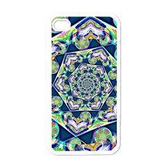 Power Spiral Polygon Blue Green White Apple Iphone 4 Case (white) by EDDArt