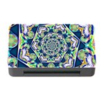 Power Spiral Polygon Blue Green White Memory Card Reader with CF