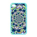 Power Spiral Polygon Blue Green White Apple iPhone 4 Case (Color)