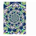 Power Spiral Polygon Blue Green White Small Garden Flag (Two Sides)