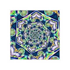 Power Spiral Polygon Blue Green White Acrylic Tangram Puzzle (4  x 4 ) by EDDArt