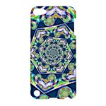 Power Spiral Polygon Blue Green White Apple iPod Touch 5 Hardshell Case