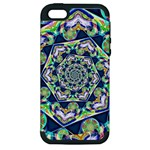 Power Spiral Polygon Blue Green White Apple iPhone 5 Hardshell Case (PC+Silicone)