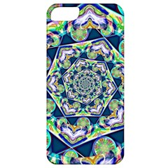 Power Spiral Polygon Blue Green White Apple Iphone 5 Classic Hardshell Case by EDDArt