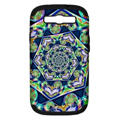 Power Spiral Polygon Blue Green White Samsung Galaxy S Iii Hardshell Case (pc+silicone) by EDDArt