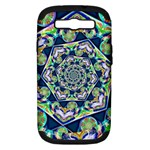 Power Spiral Polygon Blue Green White Samsung Galaxy S III Hardshell Case (PC+Silicone)