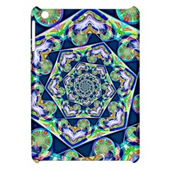 Power Spiral Polygon Blue Green White Apple Ipad Mini Hardshell Case by EDDArt