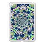 Power Spiral Polygon Blue Green White Apple iPad Mini Case (White)