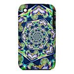 Power Spiral Polygon Blue Green White Apple iPhone 3G/3GS Hardshell Case (PC+Silicone)