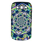 Power Spiral Polygon Blue Green White Samsung Galaxy S III Classic Hardshell Case (PC+Silicone)