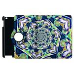 Power Spiral Polygon Blue Green White Apple iPad 2 Flip 360 Case