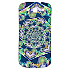 Power Spiral Polygon Blue Green White Samsung Galaxy S3 S Iii Classic Hardshell Back Case by EDDArt