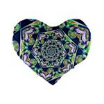 Power Spiral Polygon Blue Green White Standard 16  Premium Heart Shape Cushions
