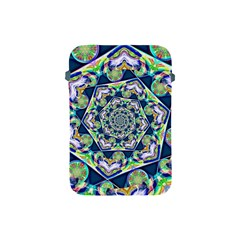 Power Spiral Polygon Blue Green White Apple Ipad Mini Protective Soft Cases by EDDArt