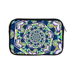 Power Spiral Polygon Blue Green White Apple Ipad Mini Zipper Cases by EDDArt