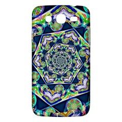 Power Spiral Polygon Blue Green White Samsung Galaxy Mega 5 8 I9152 Hardshell Case  by EDDArt
