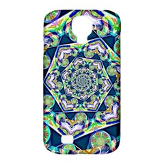 Power Spiral Polygon Blue Green White Samsung Galaxy S4 Classic Hardshell Case (pc+silicone) by EDDArt