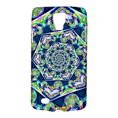 Power Spiral Polygon Blue Green White Galaxy S4 Active by EDDArt