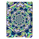 Power Spiral Polygon Blue Green White iPad Air Hardshell Cases