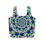 Power Spiral Polygon Blue Green White Full Print Recycle Bags (S)