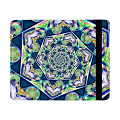 Power Spiral Polygon Blue Green White Samsung Galaxy Tab Pro 8 4  Flip Case by EDDArt