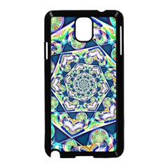 Power Spiral Polygon Blue Green White Samsung Galaxy Note 3 Neo Hardshell Case (black) by EDDArt