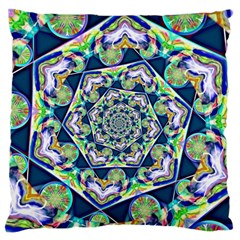 Power Spiral Polygon Blue Green White Standard Flano Cushion Case (two Sides) by EDDArt