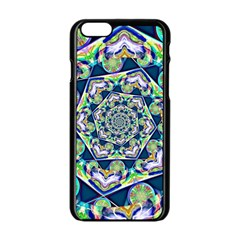 Power Spiral Polygon Blue Green White Apple Iphone 6/6s Black Enamel Case by EDDArt