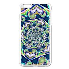 Power Spiral Polygon Blue Green White Apple Iphone 6 Plus/6s Plus Enamel White Case by EDDArt