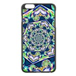Power Spiral Polygon Blue Green White Apple iPhone 6 Plus/6S Plus Black Enamel Case