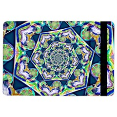 Power Spiral Polygon Blue Green White Ipad Air 2 Flip by EDDArt
