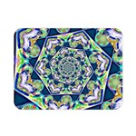 Power Spiral Polygon Blue Green White Double Sided Flano Blanket (Mini)