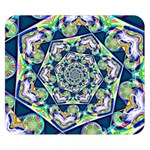 Power Spiral Polygon Blue Green White Double Sided Flano Blanket (Small)