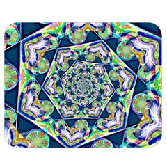 Power Spiral Polygon Blue Green White Double Sided Flano Blanket (medium)  by EDDArt