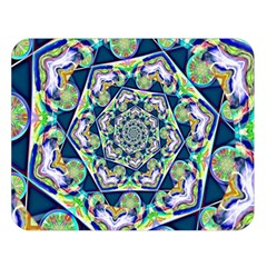 Power Spiral Polygon Blue Green White Double Sided Flano Blanket (large)  by EDDArt