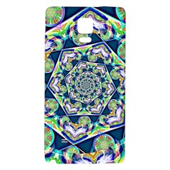 Power Spiral Polygon Blue Green White Galaxy Note 4 Back Case by EDDArt