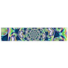 Power Spiral Polygon Blue Green White Flano Scarf (small) by EDDArt