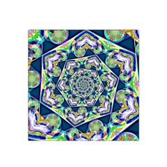 Power Spiral Polygon Blue Green White Satin Bandana Scarf by EDDArt