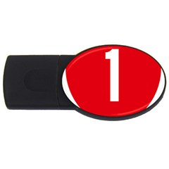 New Zealand State Highway 1 Usb Flash Drive Oval (2 Gb)  by abbeyz71