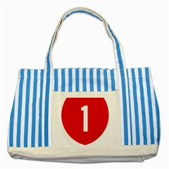 New Zealand State Highway 1 Striped Blue Tote Bag by abbeyz71